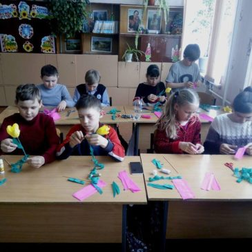 Заняття зі школярами Краснокутщини в рамках Всеукраїнської екологічної акції «Збережемо первоцвіти»